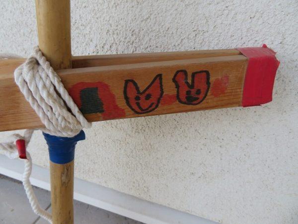 竹馬に絵を描いたら愛着もわきます