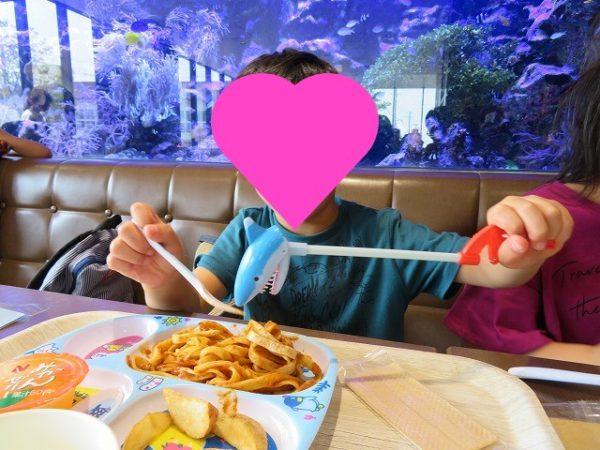 うみがたりのレストランでお子さまセットたべました