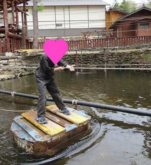 チビッ子忍者村の水ぐもの術