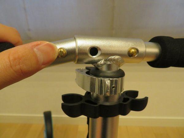 フドラキックスケーターのハンドル組み立ては簡単です