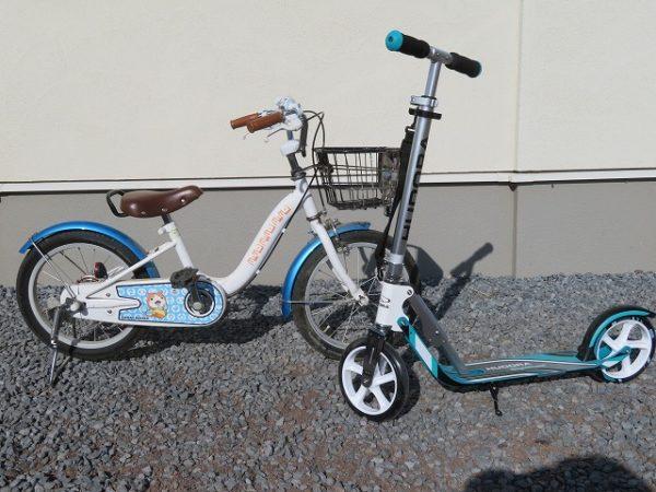 キックスケーターと子供用自転車
