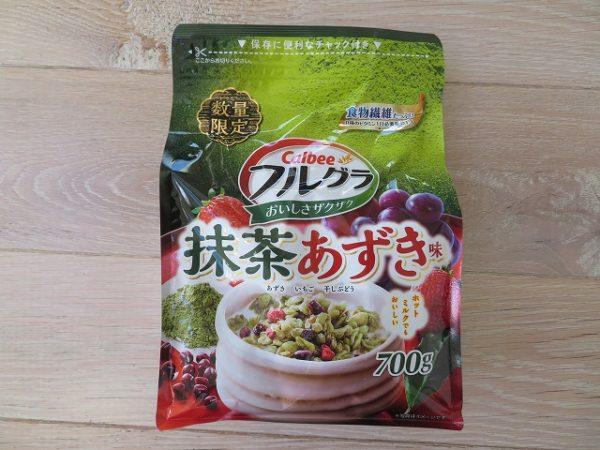 フルグラ抹茶あずき味のパッケージ